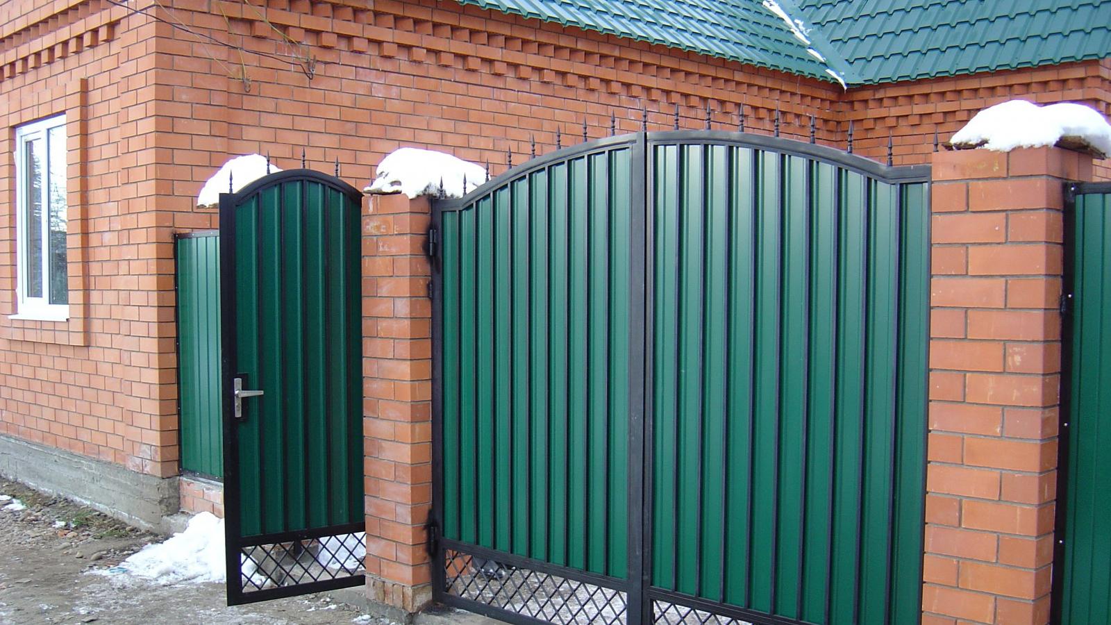 ворота кованые из профнастила